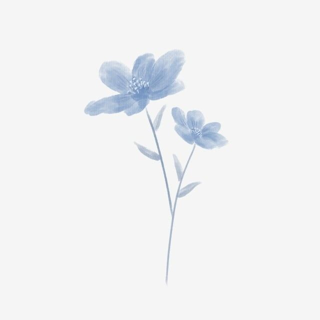 Minimalistic Hand Painted Blue Flowers Hand Painted Blue Small Flower Png Transparent Clipart Image And Psd File For Free Download Blue Flower Painting Blue Flower Tattoos Blue Flower Png