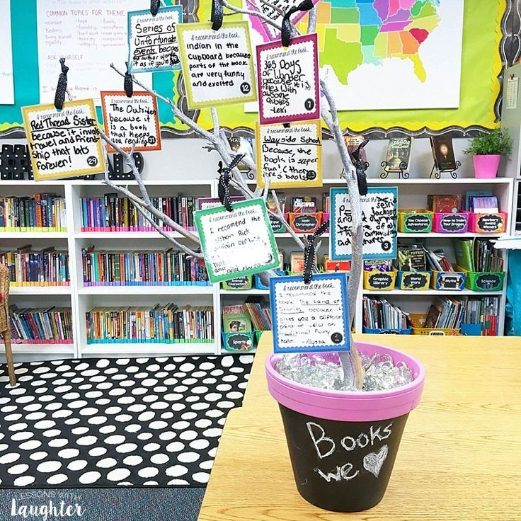 Colorful classroom library organization ideas from Lessons with Laughter