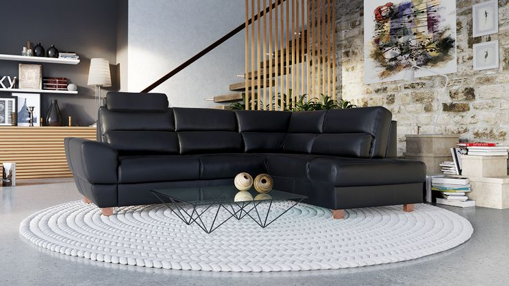 Narożnik LEO 2,5F-OTM/BK ET - Etap Sofa