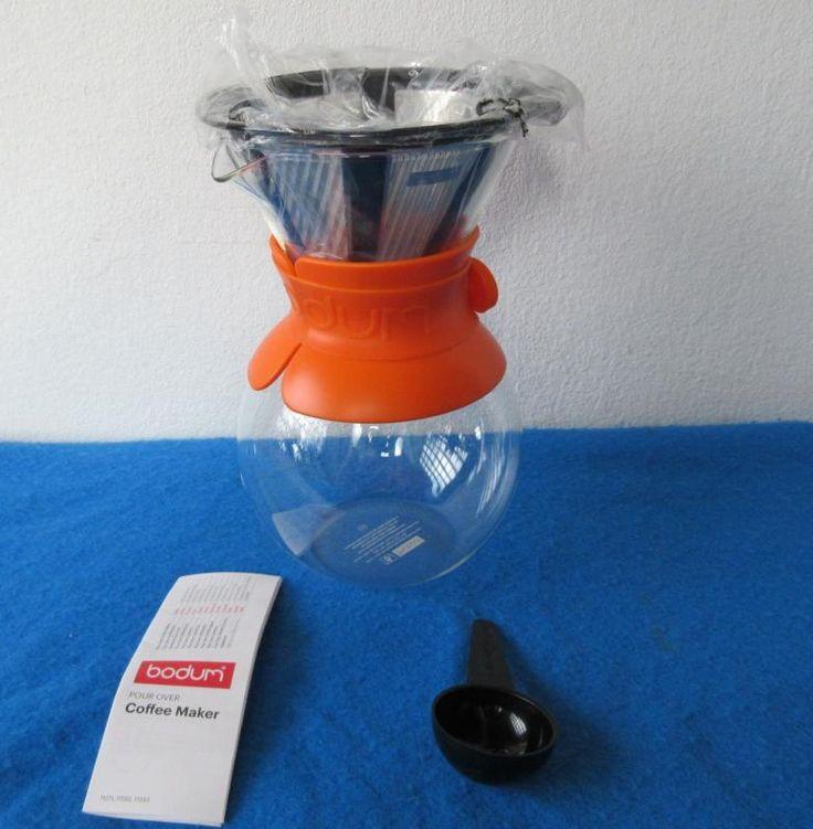 Bodum POUR OVER Kaffeebereiter Coffee Maker 1 L Orange Permanent Filter | eBay