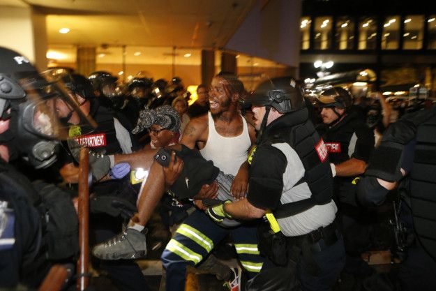 A state of emergency was declared for Charlotte, North Carolina, Wednesday night after a violent protest left one person critically injured in a non-police shooting and multiple storefronts smashed and looted.   National Guard Sent To Charlotte As Second Night Of Protests Turns Violent - BuzzFeed News
