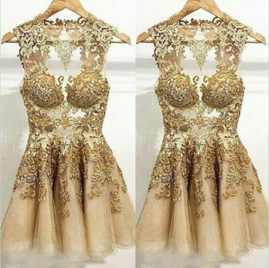 Cocktail dresses in gold