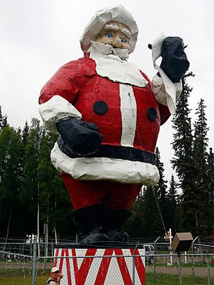 World's Largest Santa Claus; North Pole, AK - Top 50 American Roadside Attractions - TIME
