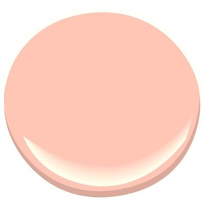 """""""Salmon Peach"""" 2013-50 by Benjamin Moore - soft pink mid-tone is warmed by its generous coral undertones...also check out Pink Canopy"""""""