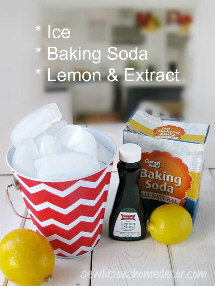How To Clean A Garbage Disposal Baking soda and lemon