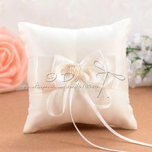 Gratis verzending 10*10 cm ivoor wedding ring kussen detalles boda bruiloft decoratie bruiloft benodigdheden event & party RP005(China (Mainland))