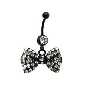 Cute bow belly button ring