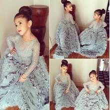 Plata 2019 vestidos de niña de las flores para bodas vestido de baile mangas la…
