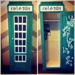 Upcycled Wardrobe into telephone box irish style