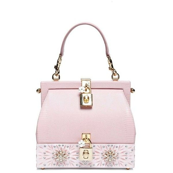 DOLCE & GABBANA Bb6275ai03380400 ($3,385) ❤ liked on Polyvore featuring bags, handbags, purses, pink, handbag purse, strap purse, dolce gabbana purses, pink hand bags and handle bag