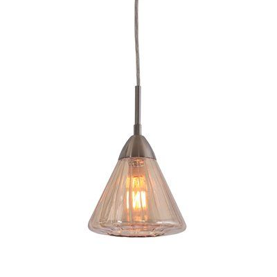 Woodbridge Lighting 13223 Aspire Plated Glass Mini-Pendant  Plated Glass Mini-PendantIncludes 6feet of adjustable wire and canopySwivel point on canopy