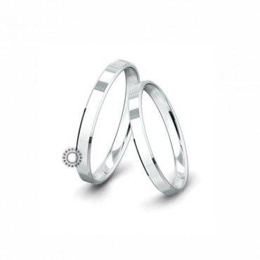 Βέρες γάμου Saint Maurice Classic λευκόχρυσες πλάτους 3.0mm επίπεδες εξωτερικά & ανατομικές | Βέρες γάμου Saint Maurice ΤΣΑΛΔΑΡΗΣ στο Χαλάνδρι #SaintMaurice #βερες #γαμου #λευκοχρυσος #rings