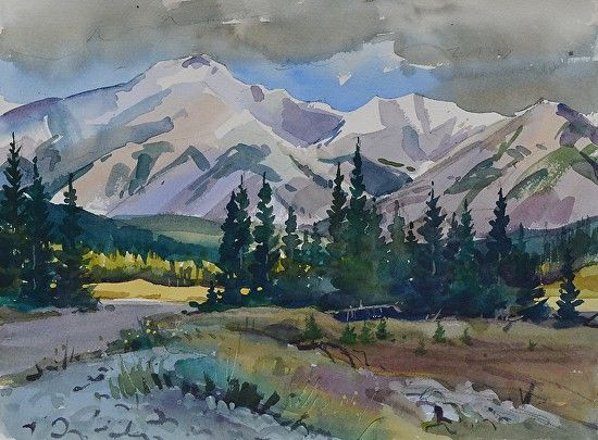 Christopher Gorey - Rocky Mountain Meadow near Banff- Watercolor - Painting entry - September 2016 | BoldBrush Painting Competition