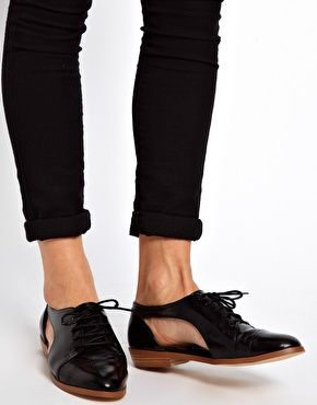 Black on Black...ASOS MARKET Flat Shoes