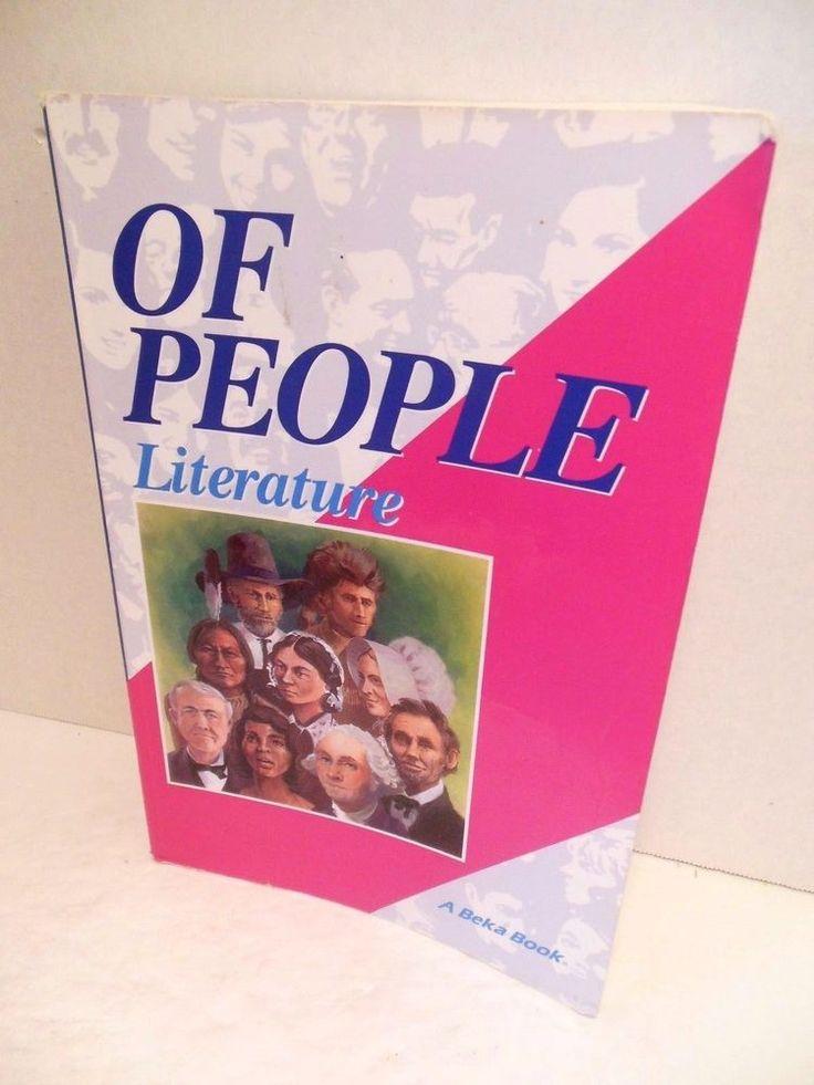 A Beka Of People Literature 7th Grade Student Reader Christian Homeschooling