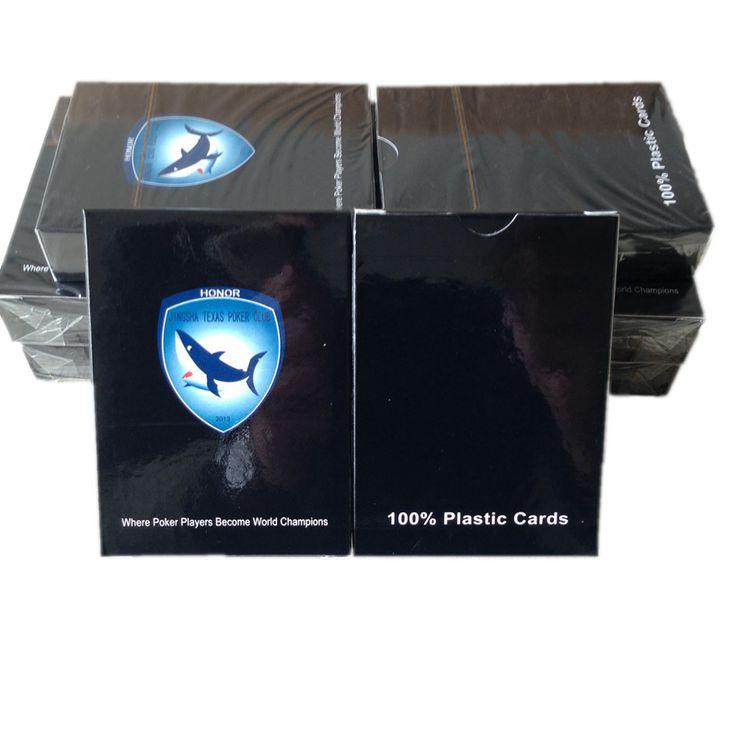 Comercio al por mayor Negro Color de PVC Plástico naipes poker Texas Holdem Poker Impermeable pvc lavado con agua resistente al desgaste K8356