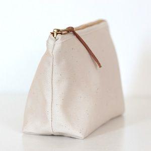 PURE pencil case - 100% organic cotton - by Cozy Memories