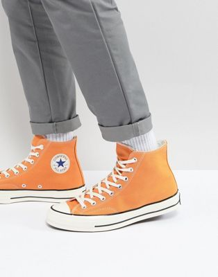87bd7a9ced4 Converse Chuck Taylor All Star '70 Hi Sneakers In Orange 159622C ...