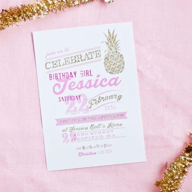 Anders Ruff Custom Designs, LLC: New Theme: Pineapple Party Invitations