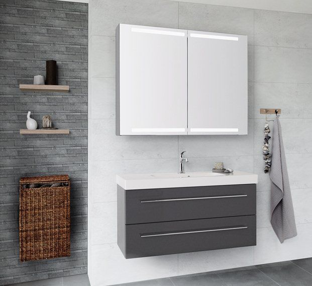 Bathroom Furniture Dansani Co Uk Luna Basin Unit In Grey
