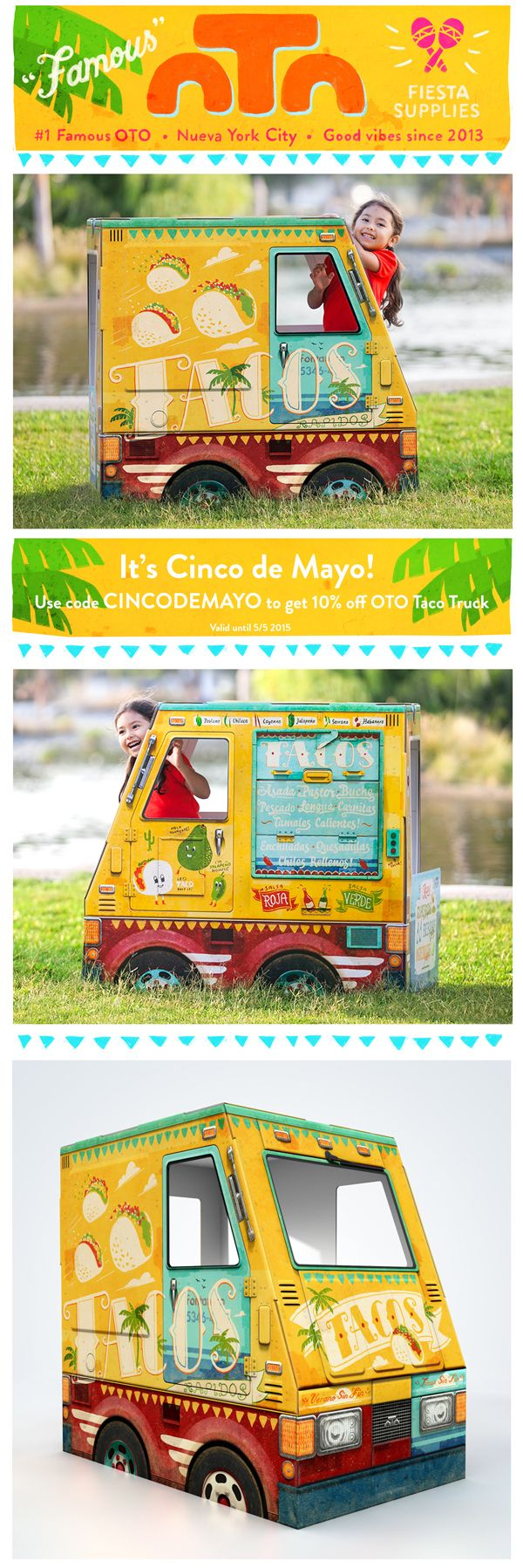 For Cinco de Mayo, use the code CINCODEMAYO to get 10% off OTO Taco Truck! Valid until 5/5 2015