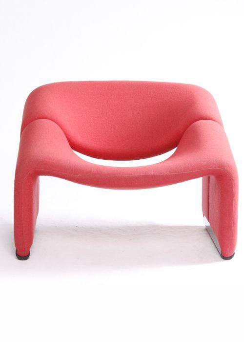 Pierre Paulin chair. so cute... #Salmoncolor