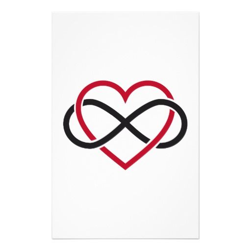 infinity sign with love | Infinity heart, never ending love stationery paper