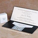 Príncipe Guillermo - caja del favor y la invitación con la tarjeta de contestación