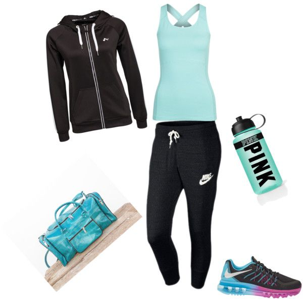 Let's get physical by alison-jane-gairns on Polyvore featuring polyvore, fashion, style, Only Play, ESPRIT, NIKE and Victoria's Secret PINK