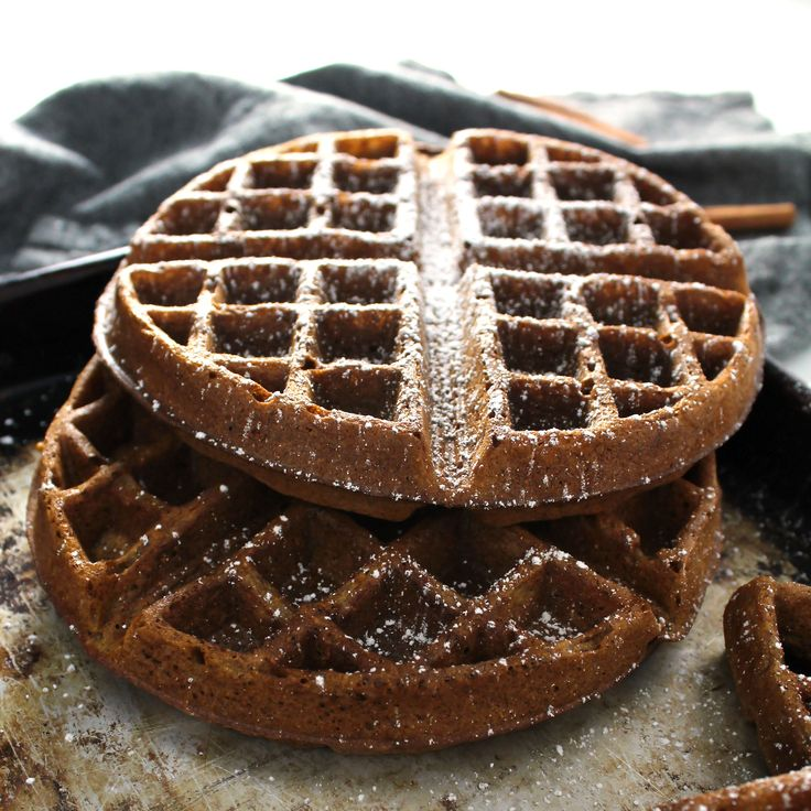 This recipe for Gingerbread Waffles is not only perfect for the holiday season and Christmas morning, but also a healthier version than standard waffles.