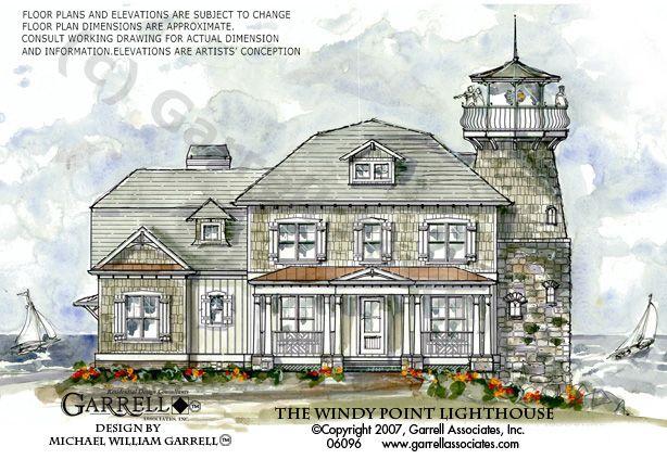 Windy Point Lighthouse Plan 06096 Garrell Associates Inc Craftsman Style House Plans Coastal House Plans Mountain House Plans