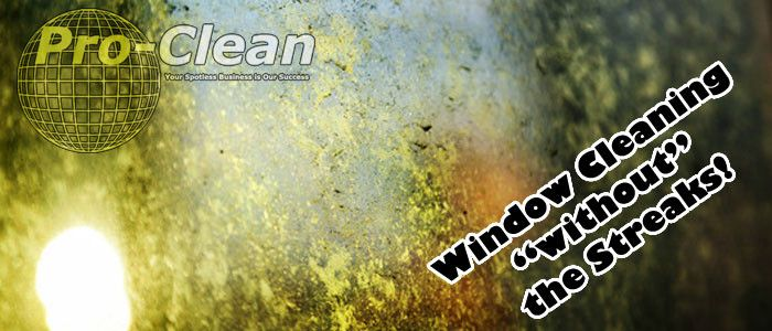 How to clean your windows streak-free. http://www.pro-clean.ca/window-cleaning-without-streaks/