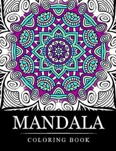 Mandala Designs Art Book Stress Relieving Patterns Coloring Books For Adults NEW Doesnotapply