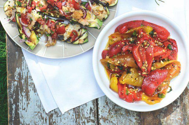 Grilované papriky s mátou & česnekem