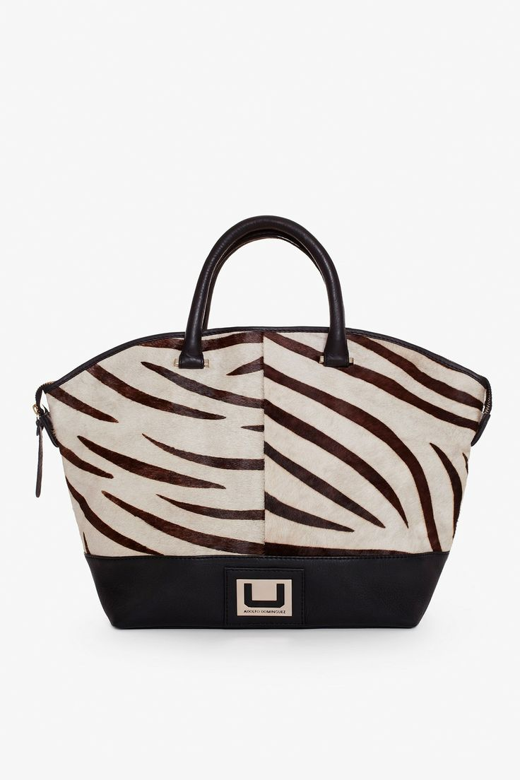 Zebra shopper - Maxi bolsos | Adolfo Dominguez shop online
