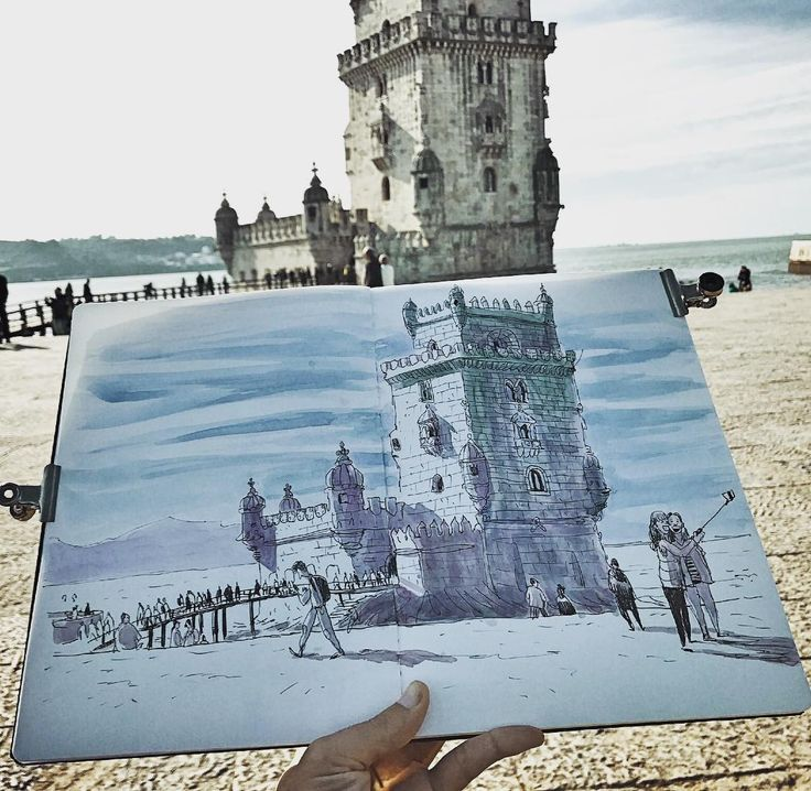 A dream came true, my Lisbon on my sketchbook!