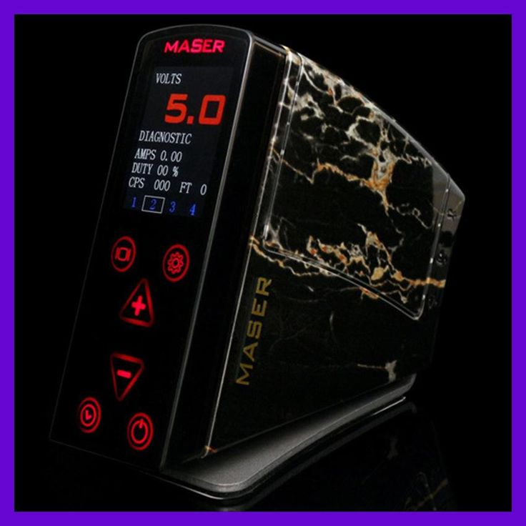 Top Quality LCD Screen Flatbed Button Dual MASER Tattoo Power Supply 2015 New Pro fuentes de alimentacion tattoo Equipment