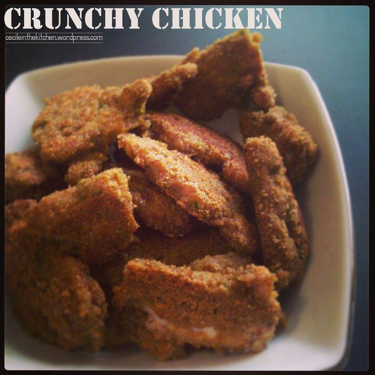 Crunchy chicken the easy way. Low GI recipe! Inspired by Jamie Oliver. cecileinthekitchen.wordpress.com