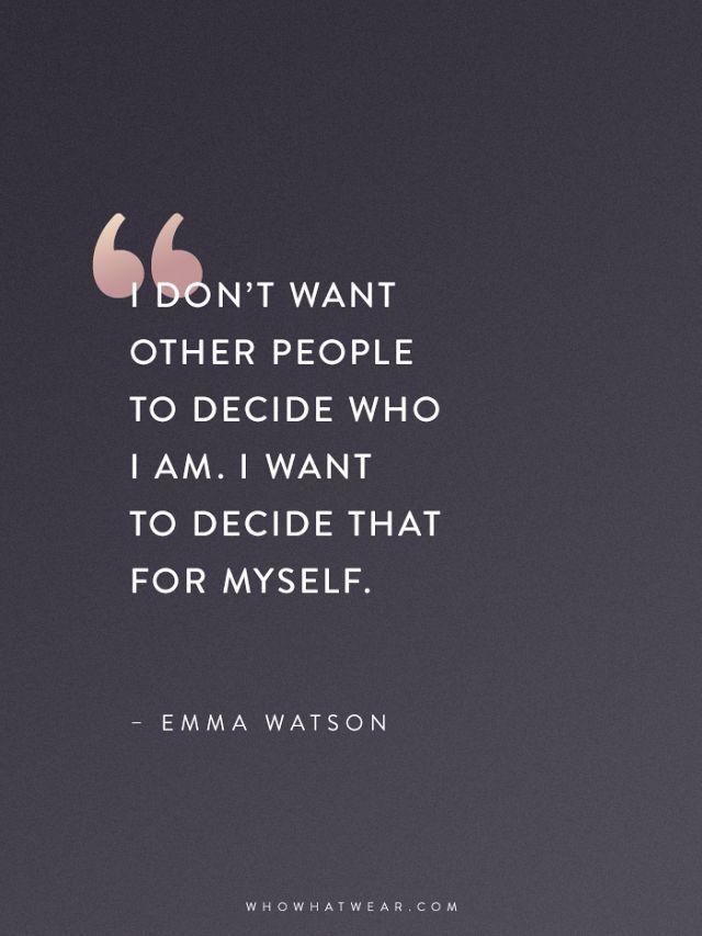 Emma Watson zitiert, dass jede Frau lesen sollte