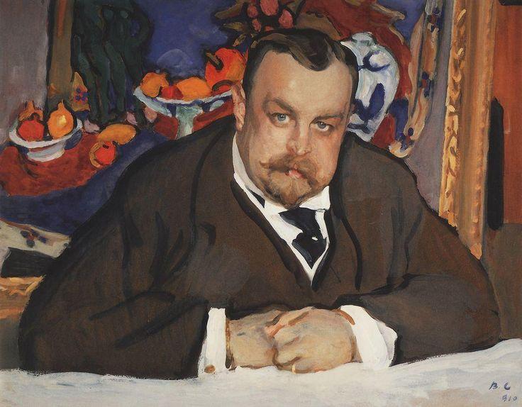 Valentin Serov (1865 – 1911) - Portrait of Ivan Morozov, 1910