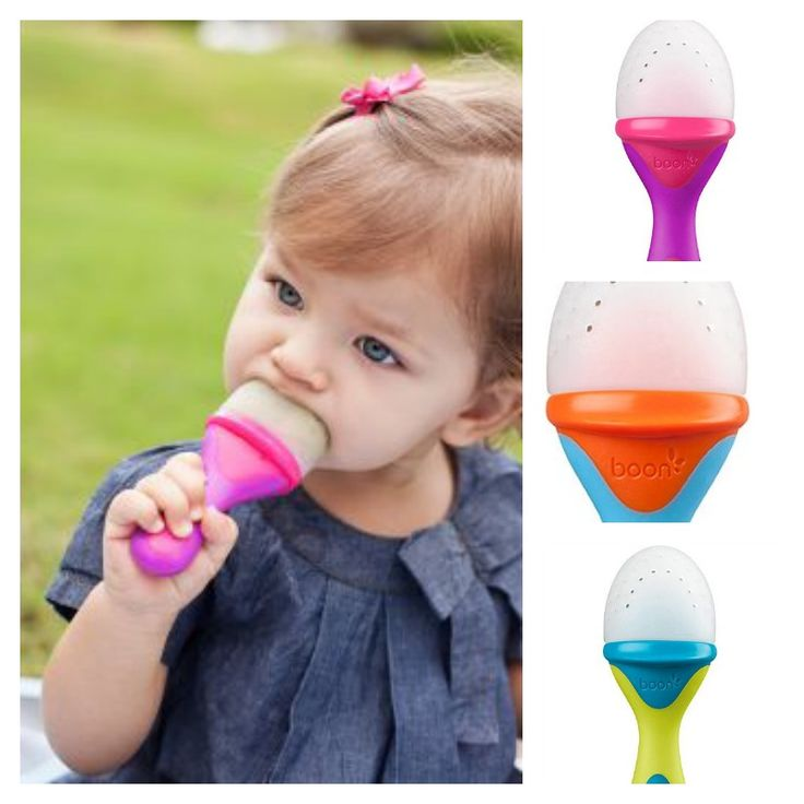 As a mum, I know that sometimes, mesh feeders can get messy, right? This Boon silicone teething feeder has some bite to it; allowing for easy feeding with its interior firm stem that forces food out where babies can get to it.