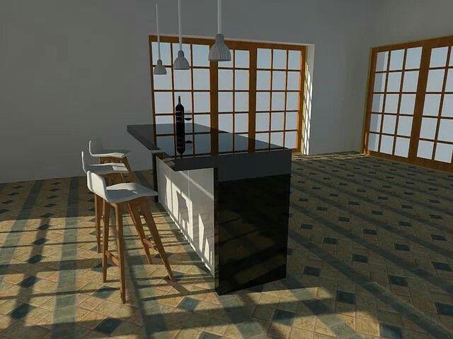 Diseño cocina isla1