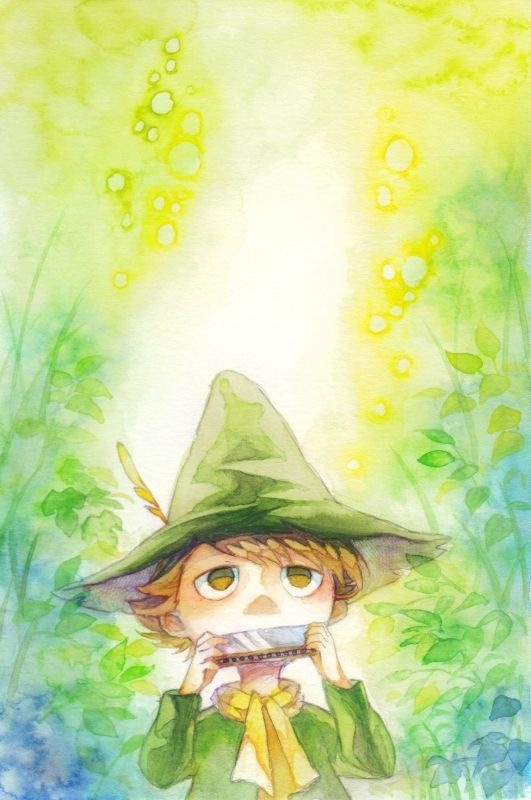 Snufkin from Moomin.