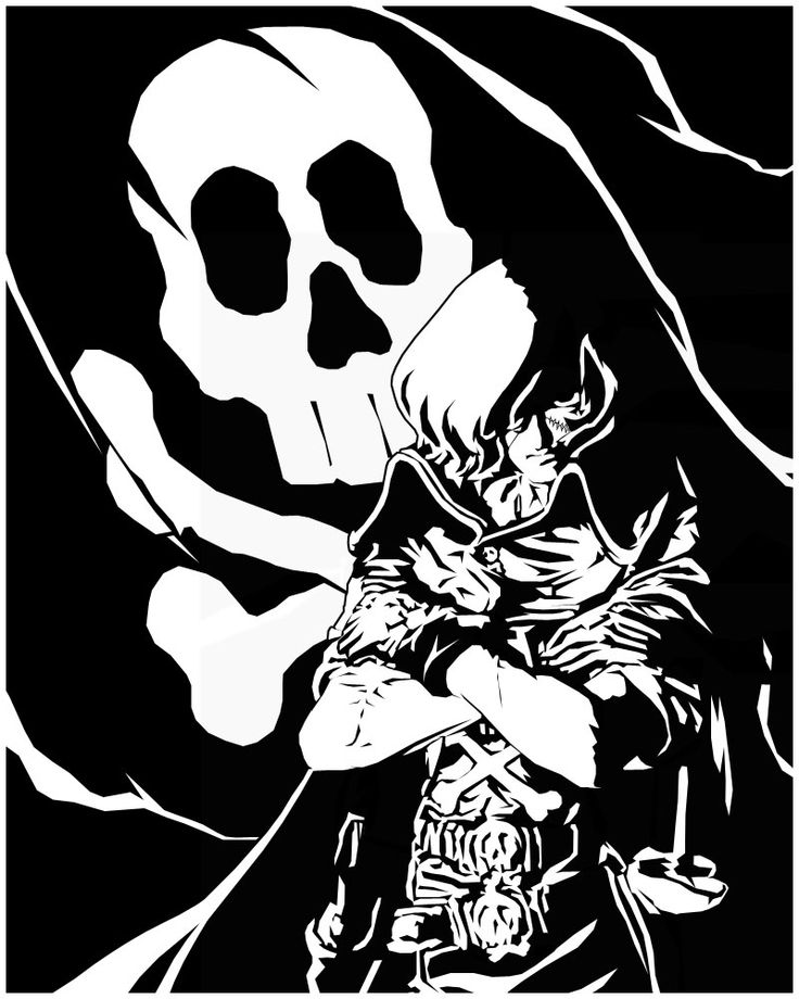 Badass Harlock ink drawing
