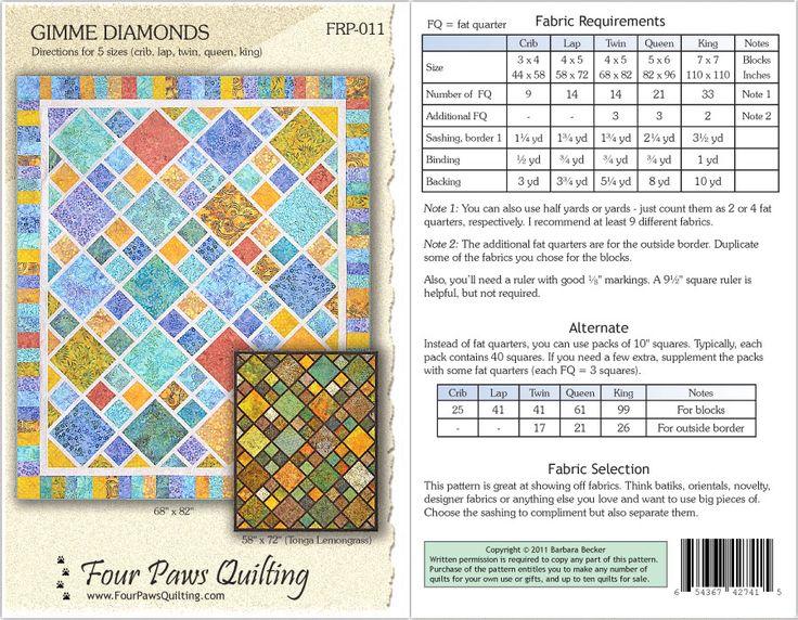 Gimme Diamonds Quilt Pattern Quilt Ideas Pinterest Master Bedrooms Quilt And Diamond Pattern