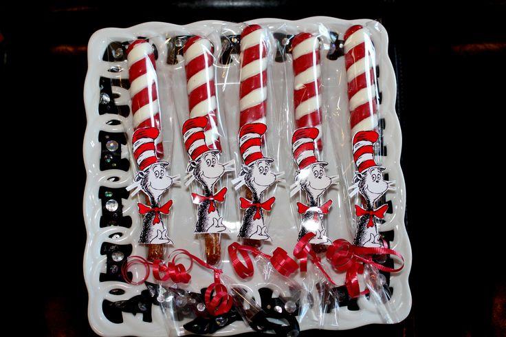 Chocolate Covered Pretzel Rods Dr Seuss Pinterest