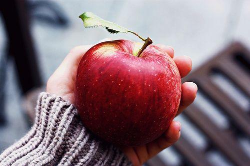 Imagem de apple, fruit, and red