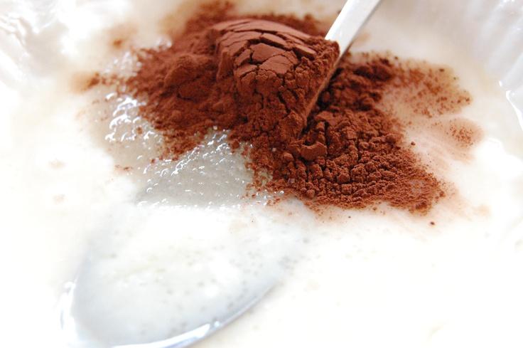 cocoa with sugar and yogurt