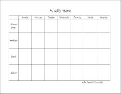 Menu templates, budget files, weekly planning, holiday planning all FREE PRINTABLES