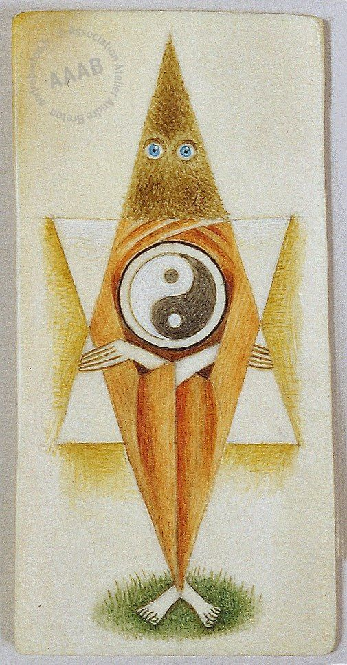 Remedios Varo - Personnage au Ying et Yang - From the collection of Andre Breton